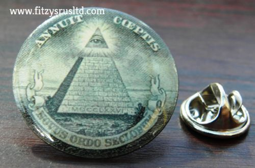 Illuminati Lapel Hat Cap Tie Pin Badge All-seeing Eye of God Providence Pyramid